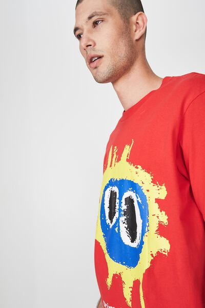 Tbar Collaboration Tee, LC SK8 STRONG RED/PRIMAL SCREAM - SCREAMADELICA