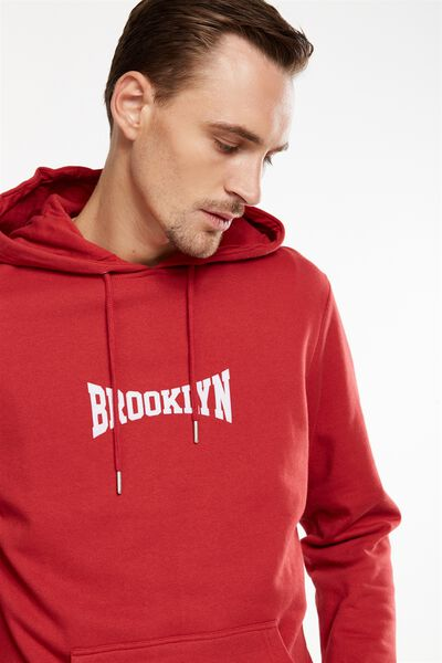 Fleece Pullover 2, RACE RED/BROOKLYN STRETCHED