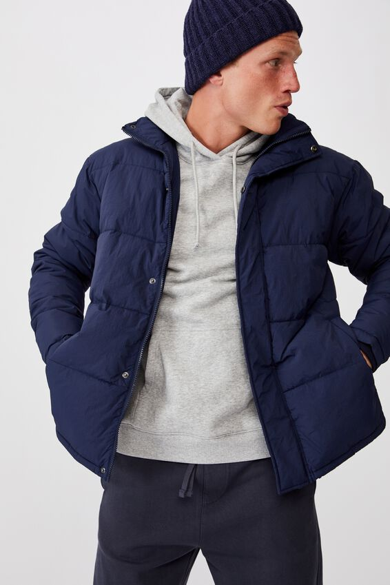 Essential Recycled Puffer, NAVY