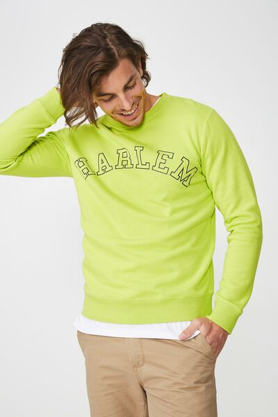 Crew Fleece 2, NEON LIME/HARLEM