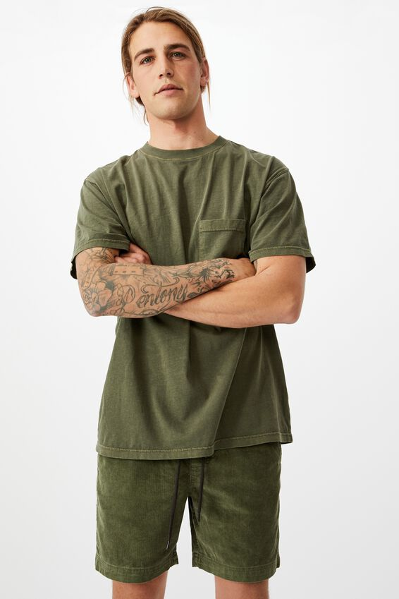 Street Volley Short, WASHED KHAKI CORD