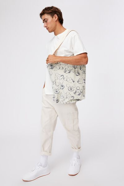 Special Edition Shoulder Tote, LCN DIS MICKEY SKETCHES/OFF WHITE