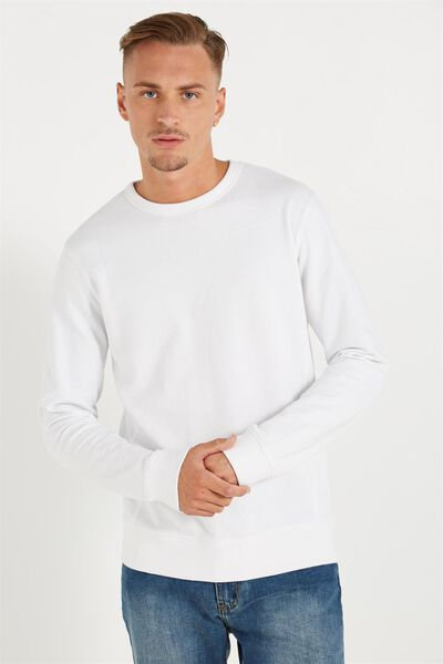 Crew Fleece 2, WHITE