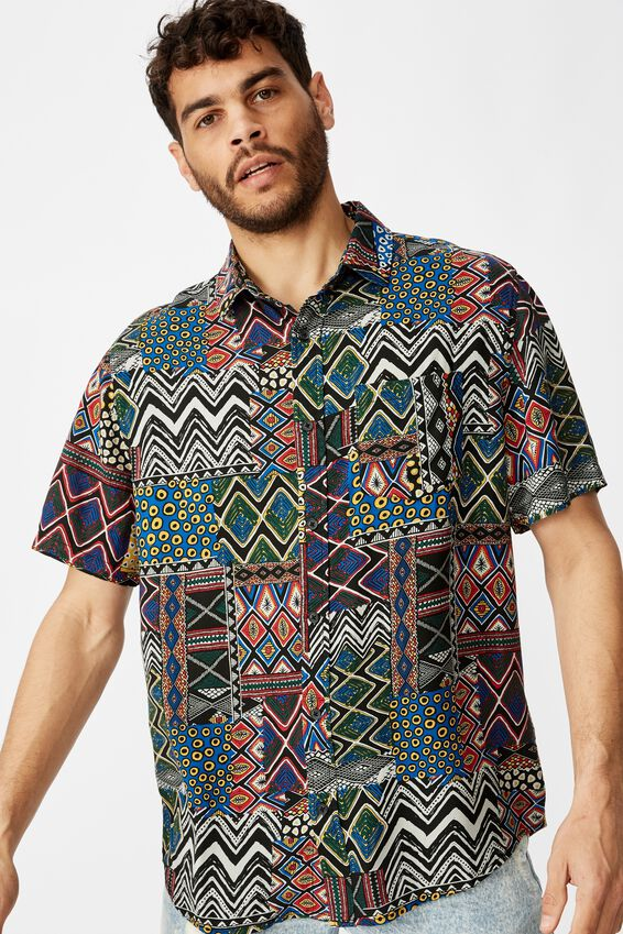 91 Short Sleeve Shirt, STATEMENT TRIBAL