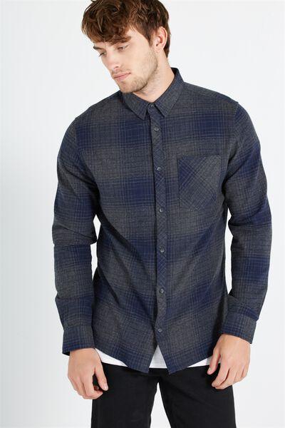 91 Shirt, INDIGO CHECK