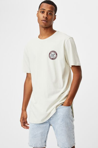 Longline Scoop T-Shirt, IVORY/HIGHTAIL CUSTOMS