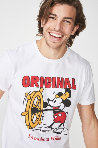 Tbar Collaboration Tee, LC WHITE/MICKEY-ORIGINAL