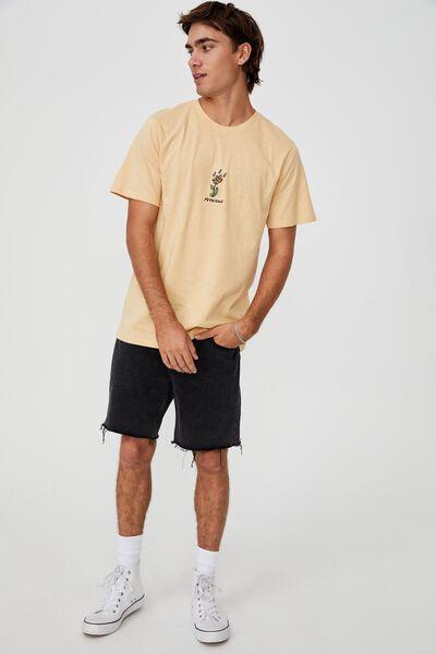 Tbar Art T-Shirt, SUNBLEACH/FO DRIZZLE