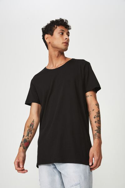 Essential Scoop Neck, BLACK