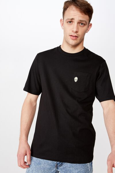 1cd2e2ee Tbar Art T-Shirt, SK8 BLACK/ALIEN EMBROID