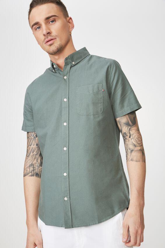Vintage Prep Short Sleeve Shirt, KHAKI