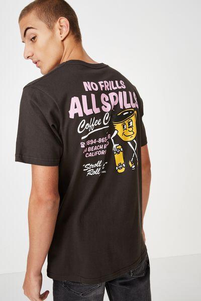 Souvenir T-Shirt, WASHED BLACK/NO FRILLS