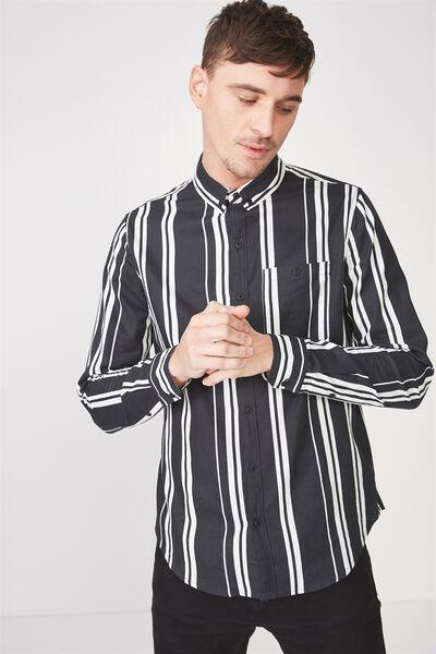 91 Shirt, BLACK WHITE STRIPE