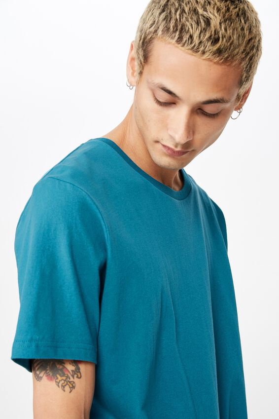 Essential Longline Curved Hem, METHYL BLUE