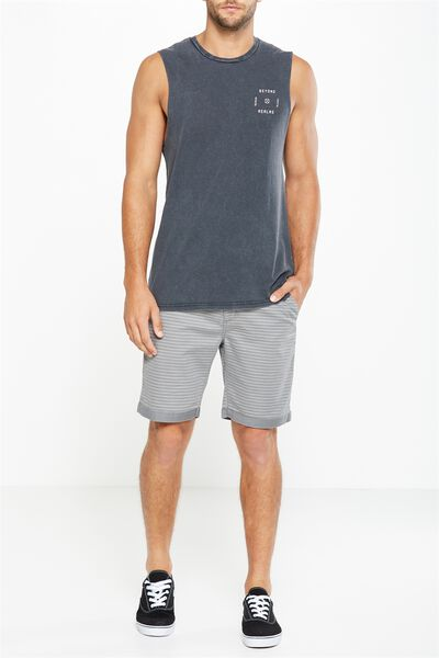 Tailored Casual Short, LIGHT GREY/STRIPE