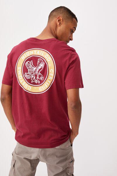 Tbar Moto T-Shirt, ROSEWOOD/HIGHTAIL EAGLE
