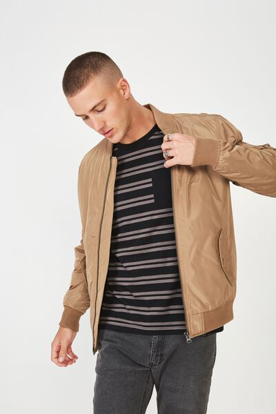 Airforce Bomber Jacket, STONE