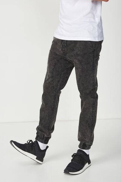 Drake Cuffed Pant, ACID BLACK