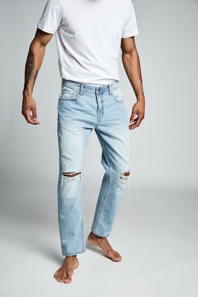 Rigid Relaxed Jean, VINTAGE BLUE RIPS