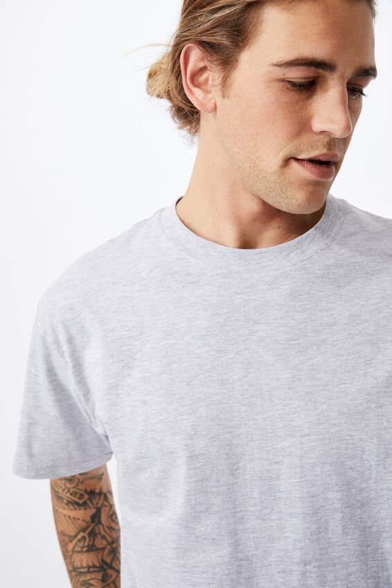 Essential Skate T-Shirt, LIGHT GREY MARLE