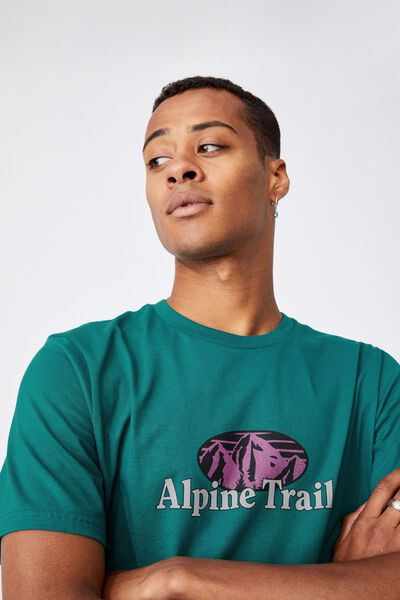 Tbar Souvenir T-Shirt, TEAL POP/MOUNTAIN RIDGE