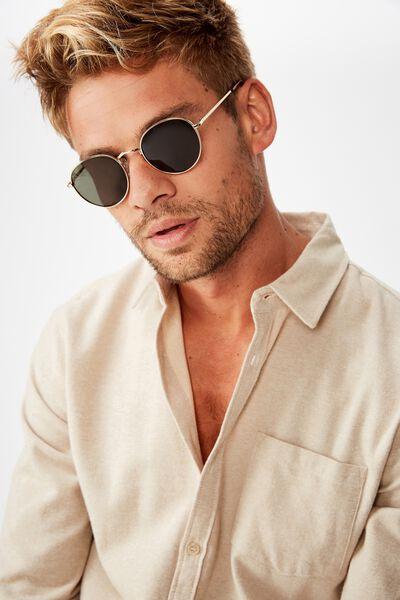 Bellbrae Sunglasses, GOLD TORT GREEN