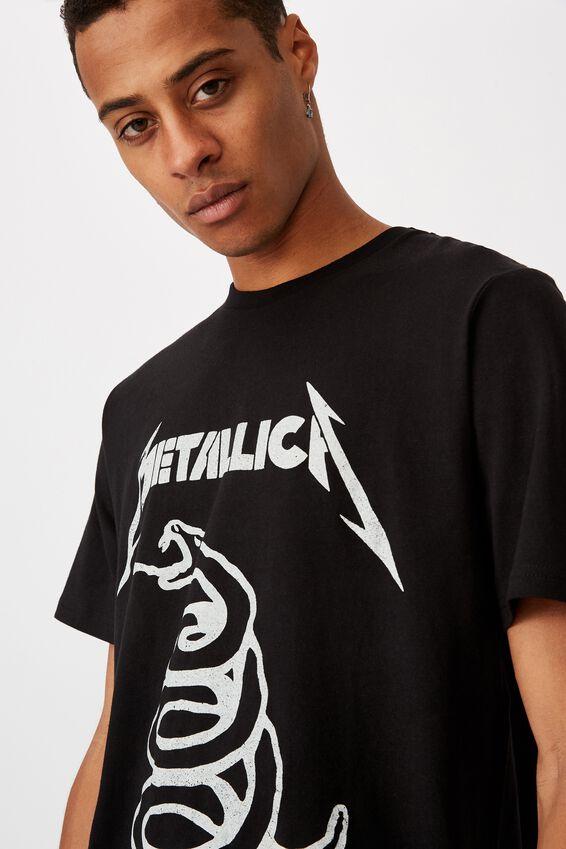 Tbar Collab Music T-Shirt, LCN PRO BLACK/METALLICA - DON T TREAD ON ME