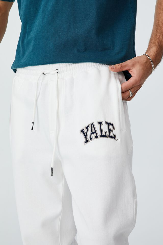 Special Edition Track Pant, LCN YAL VINTAGE WHITE/YALE- LOGO