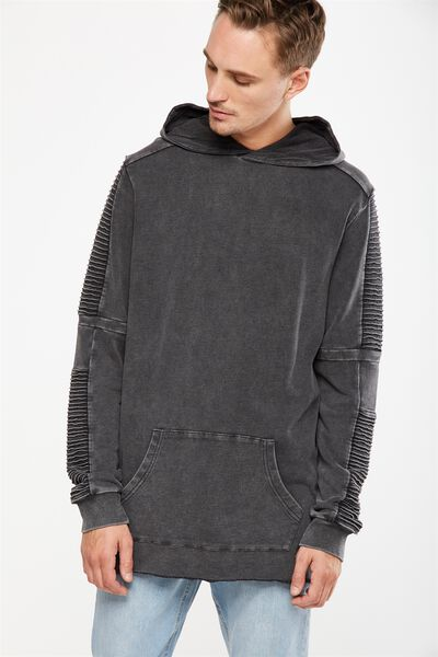 Moto Fleece Pullover, BLACK ACID