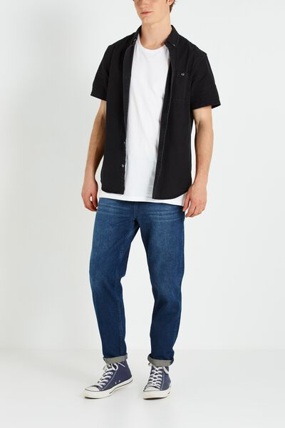 Slouch Tapered Leg Jean, TRIBE BLUE