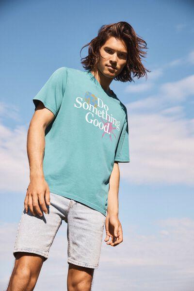Bondi T-Shirt, TEAL POP/DO SOMETHING GOOD