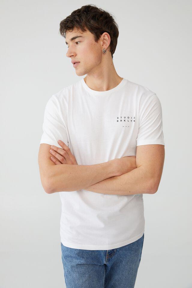 Tbar Street T-Shirt, WHITE/CONVERGE