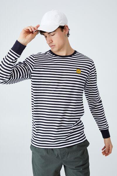 Kakao Long Sleeve T Shirt, LCN KAK INK NAVY STRIPE - RYAN