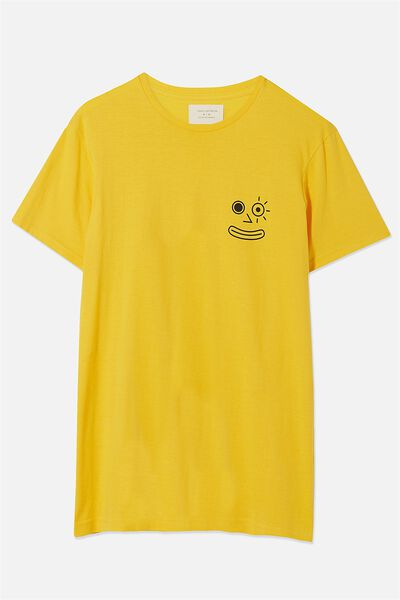 Tbar Tee, SAFETY YELLOW/COFFIN CLUB