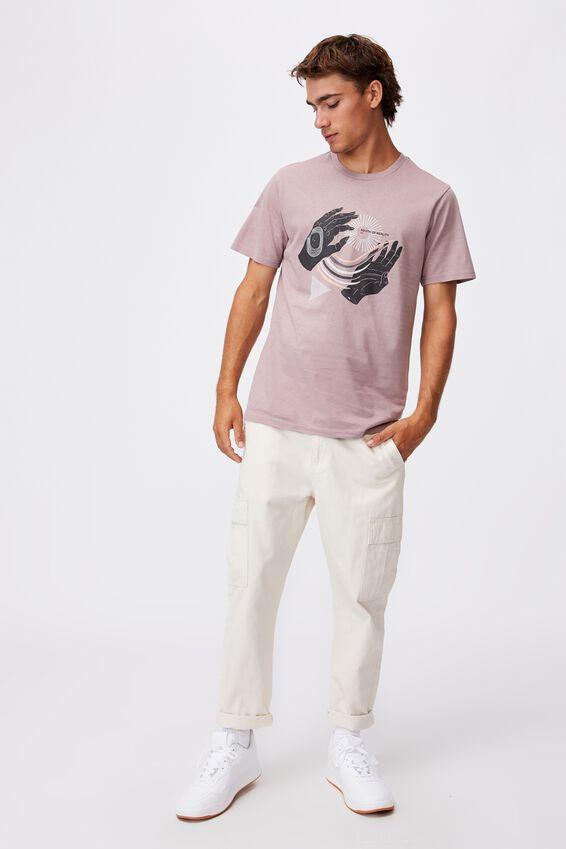 Tbar Art T-Shirt, MAUVE/SOUTH OF REALITY