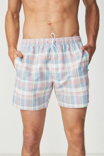 Swim Short, BLUE / CHECK