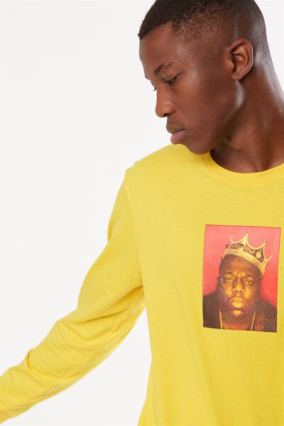 Tbar Collaboration Ls Tee, LC SAFETY YELLOW/BIGGIE