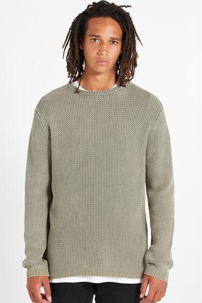 Split Hem Knit, KHAKI