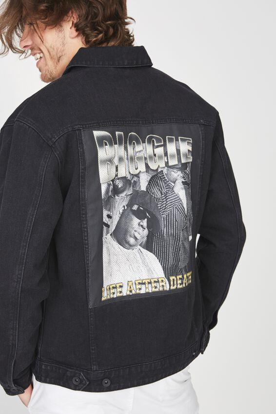 The Notorious B.I.G Denim Jacket, BIGGIE LIFE AFTER DEATH/BLACK