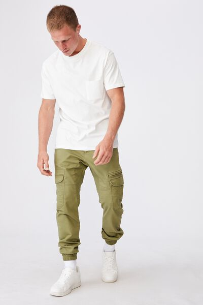 Knit Cargo Jogger, LIGHT KHAKI