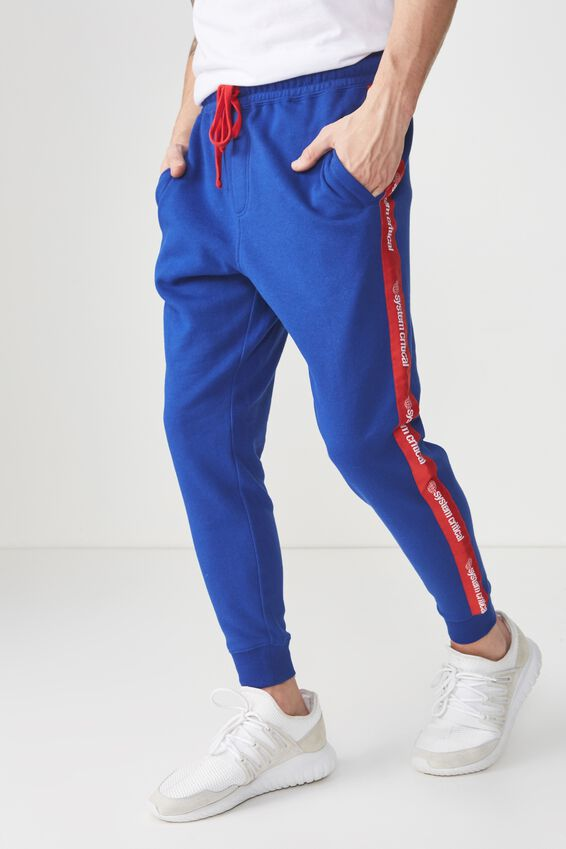 Trippy Slim Trackie, ROYAL BLUE/RED SYSTEMS CRITICAL