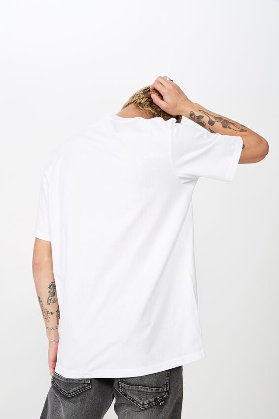 Tbar Art T-Shirt, SK8 WHITE/LOVE TO HATE