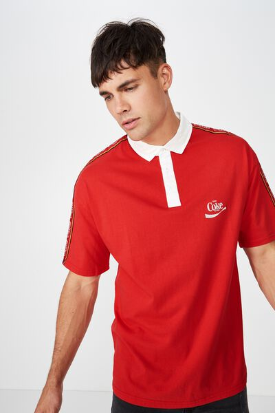 Collaboration Oversized Polo, RED TAPE COKE
