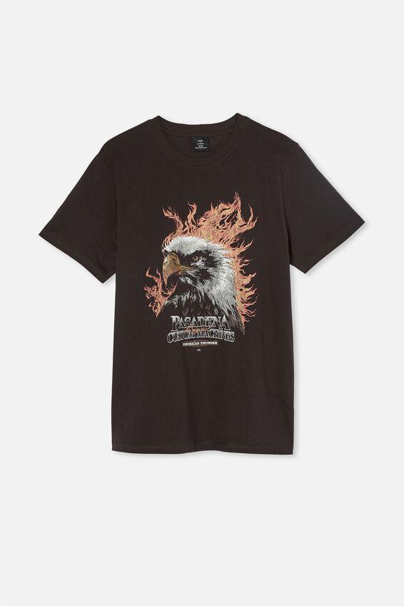 Tbar Moto T-Shirt, WASHED BLACK/PASADENA EAGLE