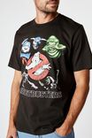 Tbar Collab Movie And Tv T-Shirt, LCN SON WASHED BLACK/GHOSTBUSTERS-GHOSTS