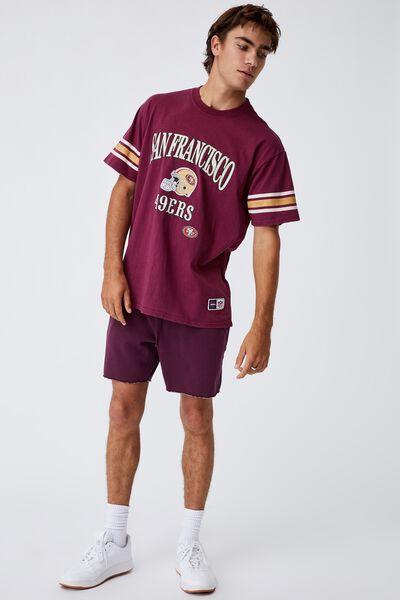 Active Collab Oversized T-Shirt, LCN NFL BURGUNDY/NFL - SAN FRANCISCO VINTAGE