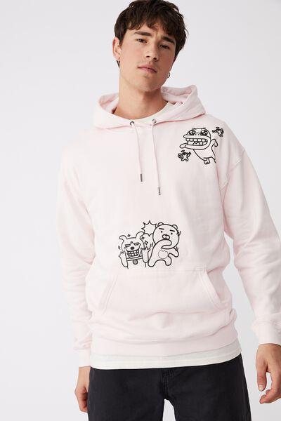 Kakao Friends Fleece Pullover, LCN KAK FROSTING/KAKAO FRIENDS