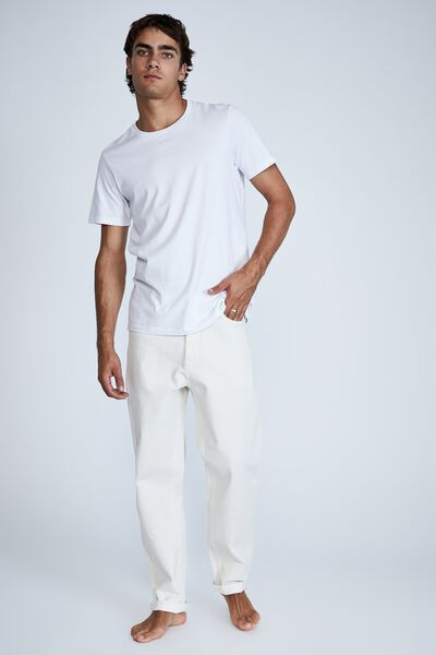 Relaxed Tapered Jean, WASHED ECRU