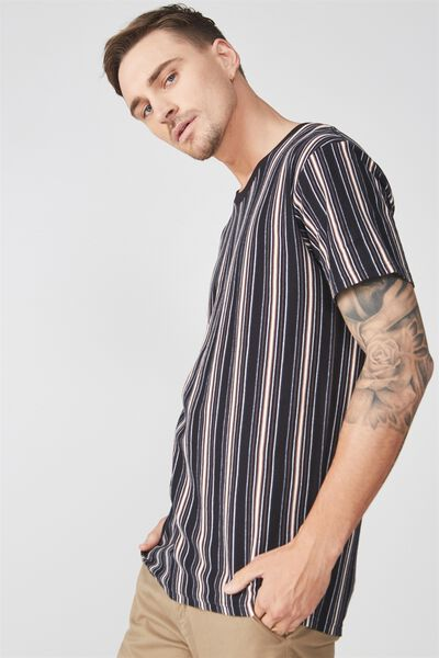 Dylan Tee, BLACK/NAVY/WASHED WHITE/DACHSHUND BROWN VERTICAL S