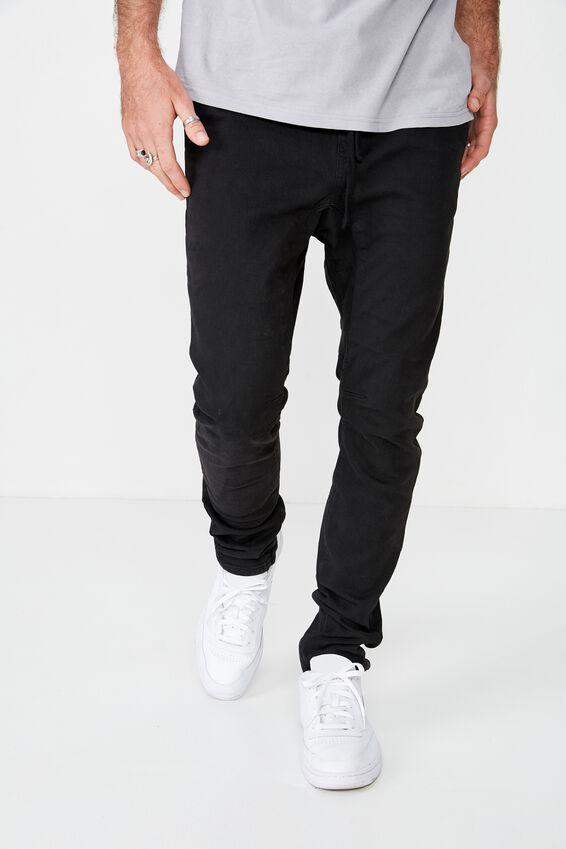 Slim Urban Zip Jean, NEW BLACK